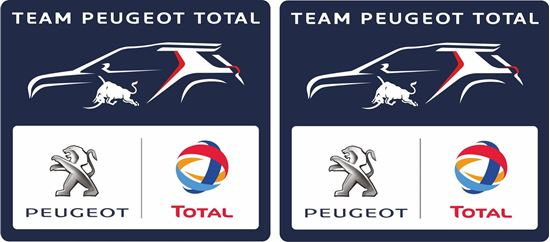 Picture of Team Peugeot Total Decals / Stickers