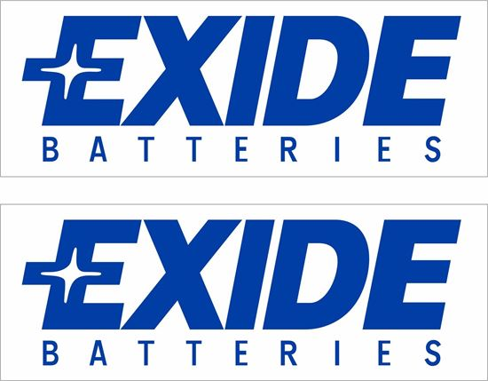 Picture of Exide Batteries Decals / Stickers