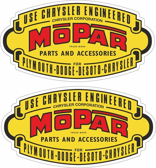 Picture of Use Chrysler Engineered Mopar  Decals / Stickers