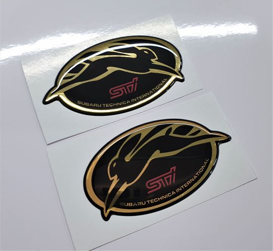 Picture of STi Hare adhesive Wing / Fender Badges