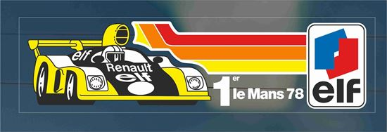 Picture of Renault elf le mans 78 Glass Decal / Sticker