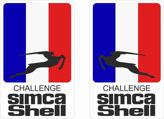 Picture of Simca Shell Challenge Decals / Stickers
