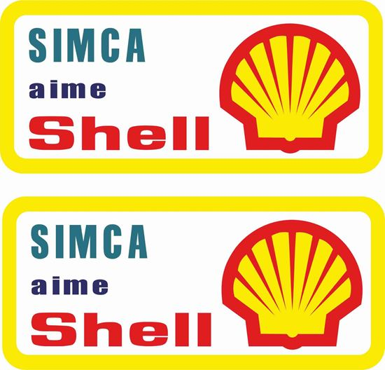 Picture of Simca amie Shell Decals / Stickers