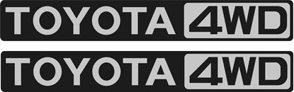 Picture of Land Cruiser 70 Toyota 4WD replacement Badge Decals / Stickers