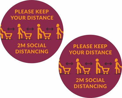 Picture of Please keep your distance... Decals / Stickers