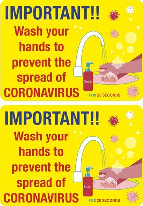 Picture of Wash your Hands...  Decals / Stickers