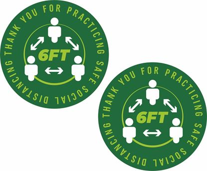 Picture of Thank you for practicing safe social distancing  Decals / Stickers