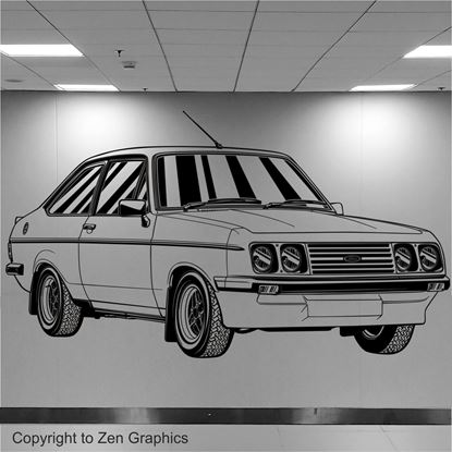 Picture of Ford Escort MK2 RS2000 Wall Art sticker