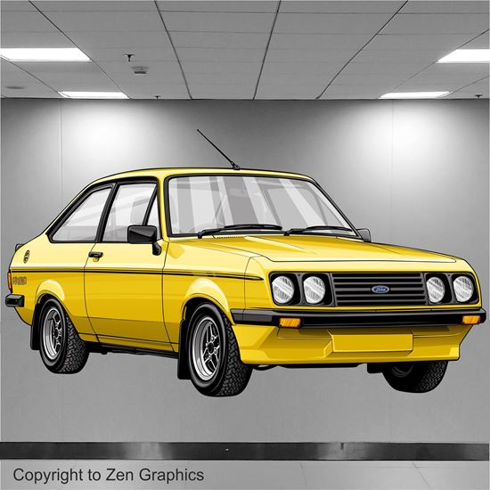 Picture of Ford Escort MK2 RS2000 Wall Art sticker (full colour)