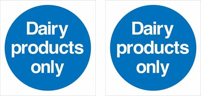 Picture of Dairy products only Decals / Stickers