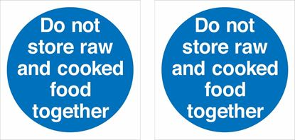 Picture of Do not store raw and cooked food together Decals / Stickers