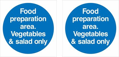 Picture of Food preparation area. Vegetables and salad only Decals / Stickers