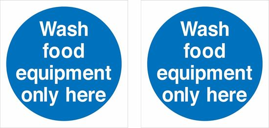 Picture of Wash food equipment only here Decals / Stickers