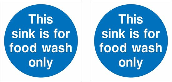 Picture of This sink is for  food wash only Decals / Stickers
