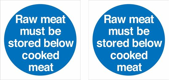 Picture of Raw meat must be stored below cooked meat Decals / Stickers
