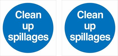 Picture of Clean up Spillages Decals / Stickers