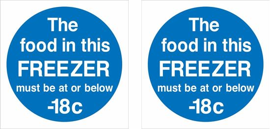 Picture of The food in this FREEZER must be at or below-18c Decals / Stickers