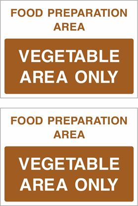 Picture of Food preparation area, Vegetable area only Decals / Stickers