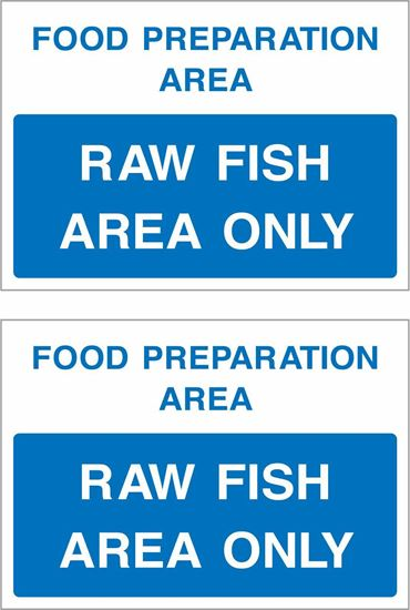 Picture of Food preparation area, Raw fish area only Decals / Stickers