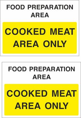 Picture of Food preparation area, Cooked meat area only Decals / Stickers