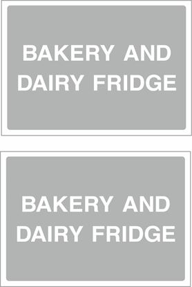 Picture of Bakery and dairy fridge Decals / Stickers