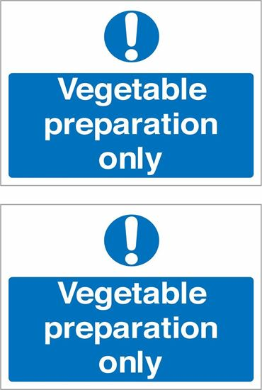 Picture of Vegetable preparation only Decals / Stickers