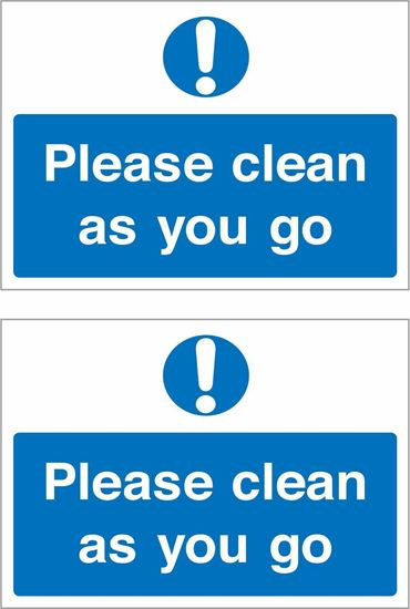 Picture of Please clean as you go Decals / Stickers