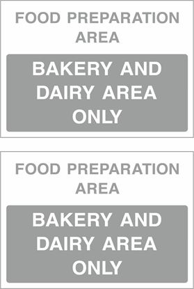 Picture of Food preparation area, Bakery and Dairy are only Decals / Stickers