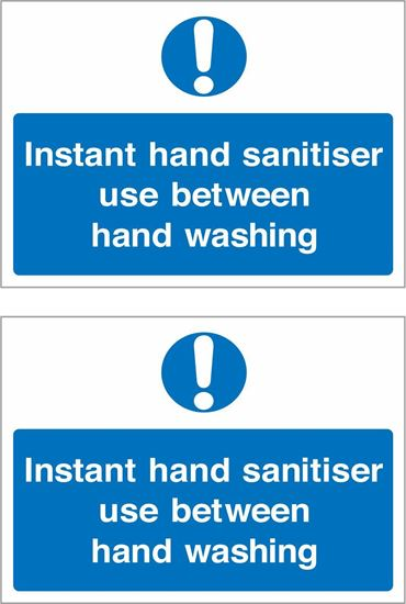 Picture of Instant hand sanitiser use between hand washing Decals / Stickers