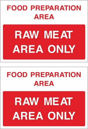 Picture of Food preparation area, Raw meat area only Decals / Stickers