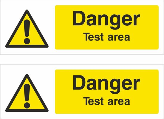 Picture of Danger test area Decals / Stickers