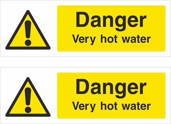 Picture of Danger very hot water Decals / Stickers