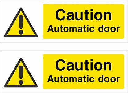 Picture of Caution Automatic door Decals / Stickers