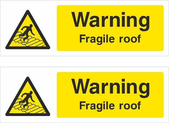Picture of Fragile roof Decals / Stickers