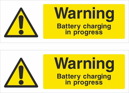 Picture of Warning, Battery charging in progress Decals / Stickers