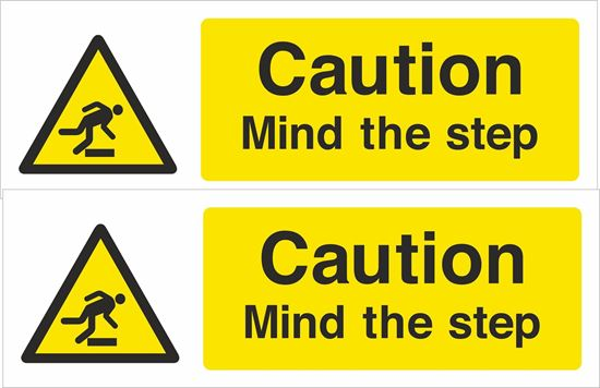 Picture of Mind the step Decals / Stickers