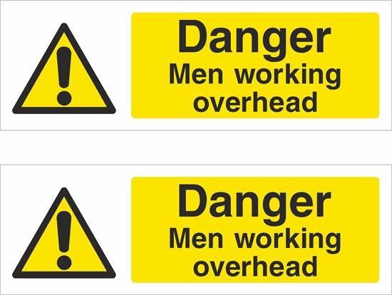 Picture of Men working overhead Decals / Stickers