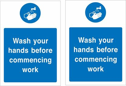 Picture of Wash your hands before commencing work Decals / Stickers