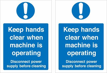 Picture of Keep hands clear when machine is operating... Decals / Stickers