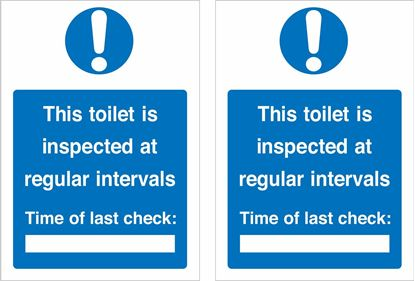 Picture of This toilet is inspected at regular intervals... Decals / Stickers