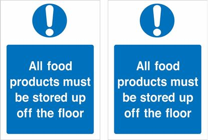 Picture of All foods products must be stored up off the floor... Decals / Stickers