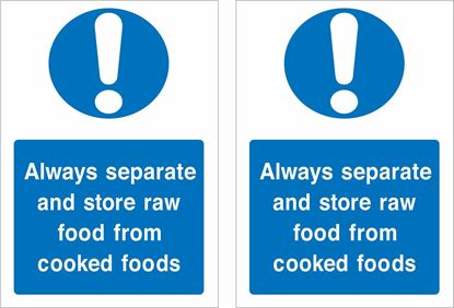 Picture of Always separate and store raw food from cooked foods Decals / Stickers