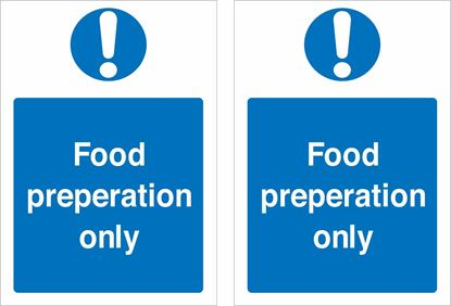 Picture of Food preparation only Decals / Stickers