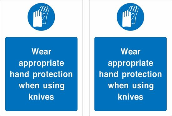 Picture of Use appropriate hand protection... Decals / Stickers
