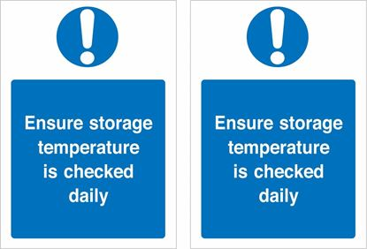 Picture of Ensure storage temperature is checked daily Decals / Stickers