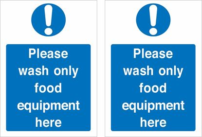 Picture of Please wash only food equipment here  Decals / Stickers