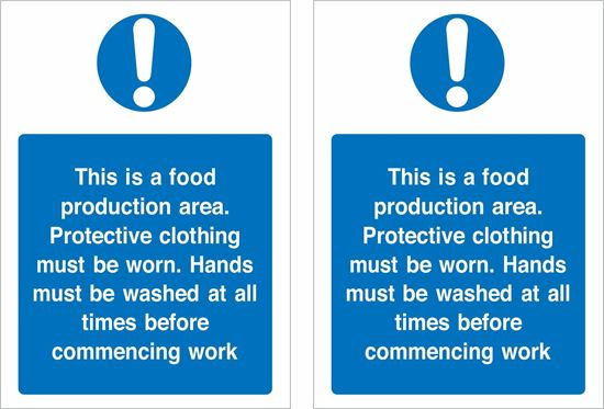 Picture of This is a food production are... Decals / Stickers