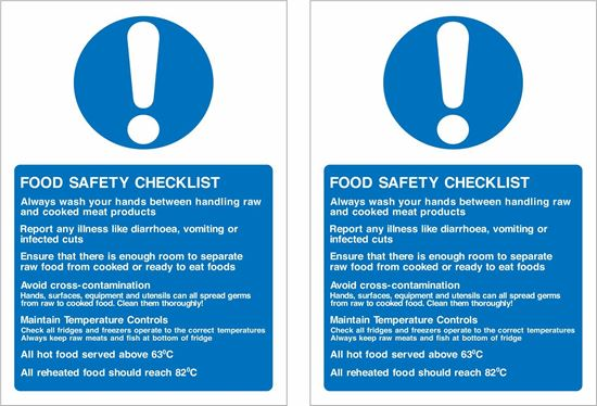 Picture of Food safety checklist Decals / Stickers