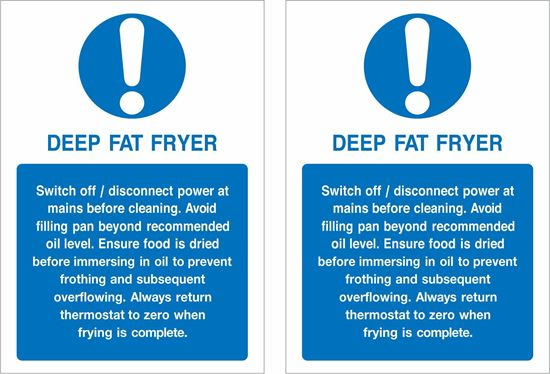 Picture of Deep Fat Fryer... Decals / Stickers