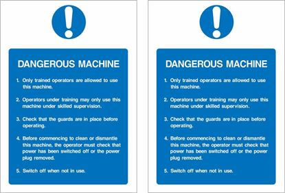 Picture of Dangerous machine... Decals / Stickers